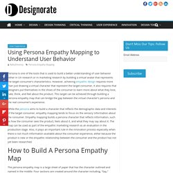 Using Persona Empathy Mapping to Understand User Behavior