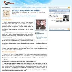 Cronica de una muerte anunciada: Resumen y personajes