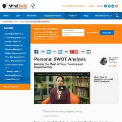 Personal SWOT Analysis - Career Development Training from MindTools