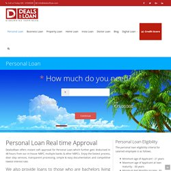 Personal Loan - Apply for Personal Loan online