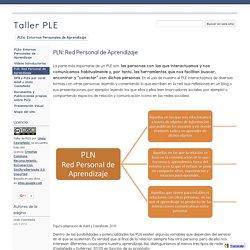 PLN: Red Personal de Aprendizaje - Taller PLE