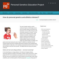 How do personal genetics and athletics intersect? – pgEd