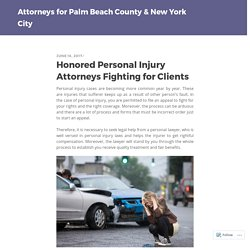 Honored Personal Injury Attorneys Fighting for Clients