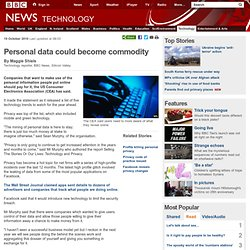 Personal data could become commodity