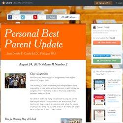 Personal Best Parent Update