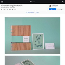 Print Portfolio on Behance