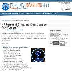 49 Personal Branding Questions to Ask Yourself | Personal Brandi