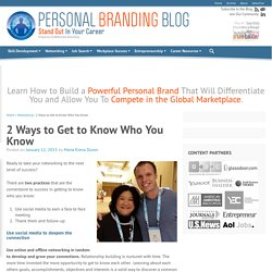 2 Ways to Get to Know Who You Know