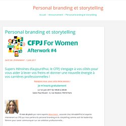 Personal branding et storytelling - Blog CFPJ