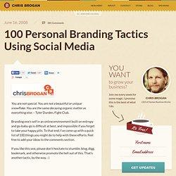 100 Personal Branding Tactics Using Social Media