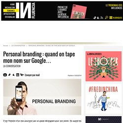 Personal branding : quand on tape mon nom sur Google…