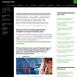 Personal injury claims lead capture landing page templates