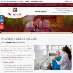 Personal Care: Soft Skills That Matter