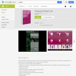 Personal Closet Lite - Android Apps on Google Play