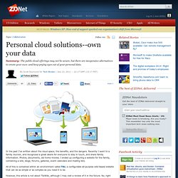 Personal cloud solutions
