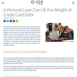 Using a Personal Loan to Consolidate Credit Card Debt