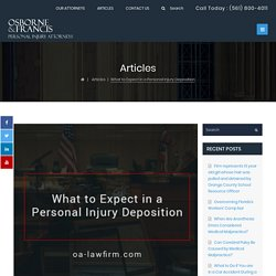 What is a Deposition in a Personal Injury Case?