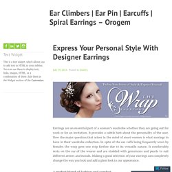 Express Your Personal Style With Designer Earrings – Ear Climbers
