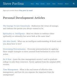 Personal Development Articles