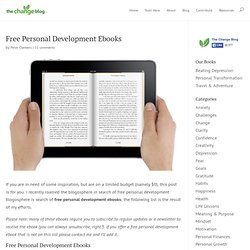Free Personal Development Ebooks