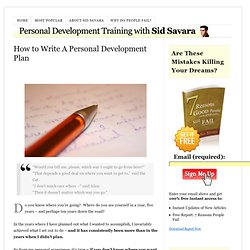 Personal Development Plan – Examples, A Template and Guide