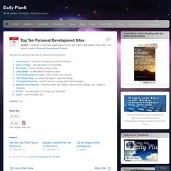 Top Ten Personal Development Sites