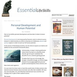 Personal Development and Human Potential