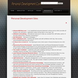 Personal Development Sites