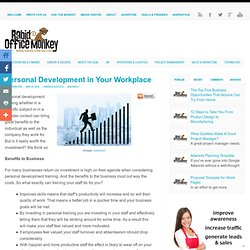 Personal Development in Your Workplace