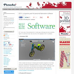 2011: a massive year for personal fabrication software