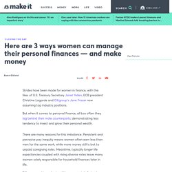 Personal finance, money advice for women: How to start investing