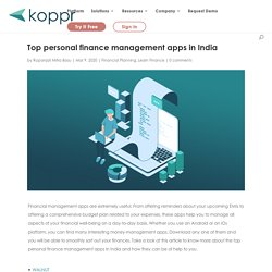 Top personal finance management apps in India