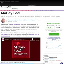 Personal Finance Tips From The Motley Fool