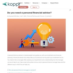 Do you need a personal financial advisor?