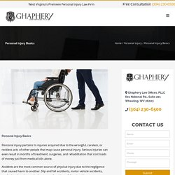 Personal Injury Basics - Ghaphery Law Offices, PLLC
