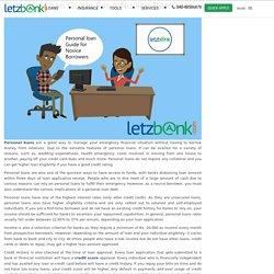 Personal Loan Guide for a Novice Borrower