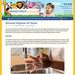 Personal Hygiene for Teens