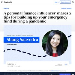 A personal finance influencer shares 5 tips for building up your emergency fund during a pandemic