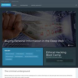 Buying Personal Information in the Deep Web
