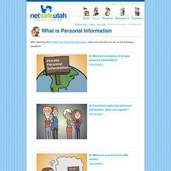 Personal Information - NetSafe Utah
