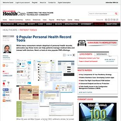 9 Popular Personal Health Record Tools -- InformationWeek
