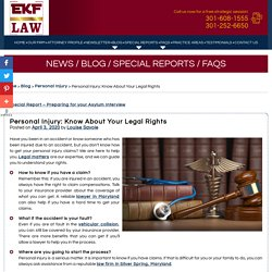Personal Injury: Know About Your Legal Rights