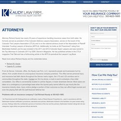 The Best Personal Injury Lawyer in Denver, CO - The Kaudy Law Firm LLC