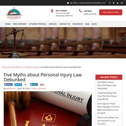 Five Myths about Personal Injury Law Debunked