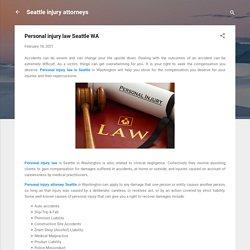 Personal injury law Seattle WA