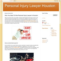 Find The Houston Personal Injury Lawyer
