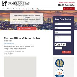 Personal Injury Lawyer - the Law Offices of Samer Habbas
