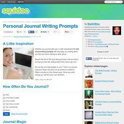 Personal Journal Writing Prompts