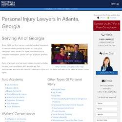 Personal Injury Lawyers in Atlanta Georgia