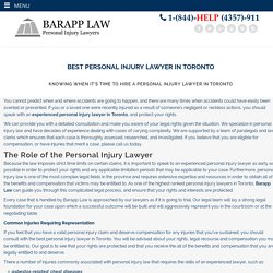 Top Personal Injury Lawyers Toronto